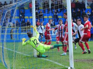 Meciul de fotbal Juventus Bucuresti - Sepsi OSK Sfantu Gheorghe, din Liga a II-A, disputat pe stadionul Juventus din Bucuresti, sambata 18 martie 2017. MARIAN ILIE / MEDIAFAX FOTO